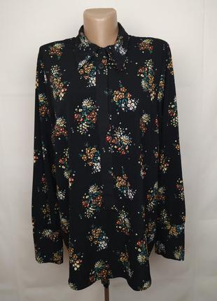 Блуза шикарная стильная эластичная в цветы next uk 16/44/xl