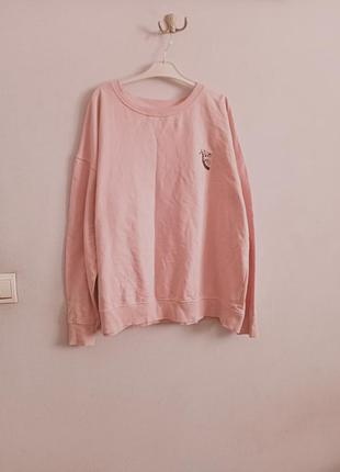 Розовый оверсайз свитшот с коалой