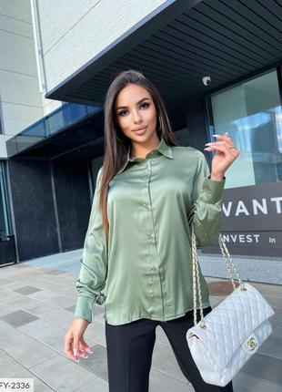 Женская шёлковая блуза