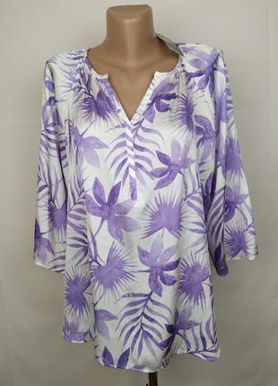 Блуза новая легкая модная в принт marks&spencer uk 14/42/l