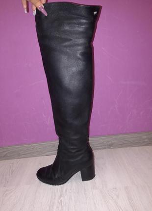 🔥🖤скидки ,сапоги, ботфорты, зимние, кожаные