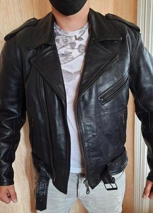 Кожаная байкерская куртка косуха