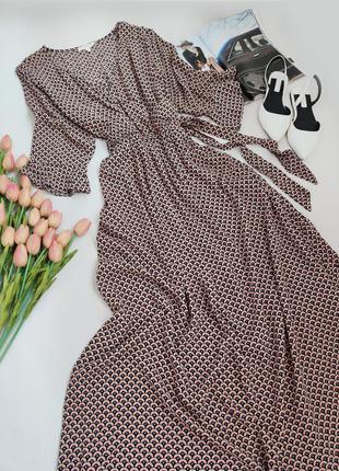 Дуже красиве віскозне плаття максі з імітацією на запах від next розмір l-xl