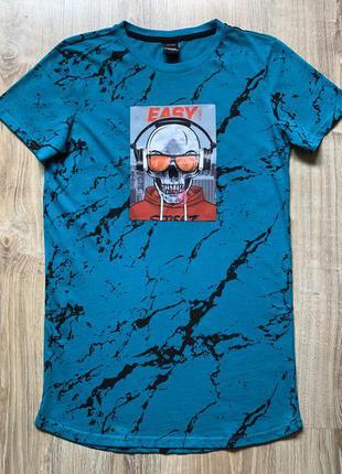 Подростковая хлопковая футболка с голографическим принтом chapter