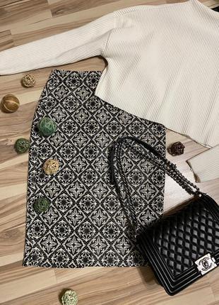 Шикарная юбка, юбка-карандаш из жаккарда (испания🇪🇸)