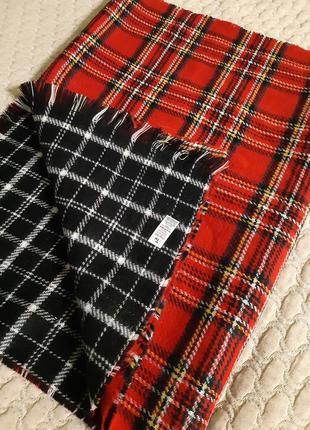 Большой двухсторонний шарф палантин пашмина