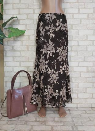 """Новая юбка в пол/длинная юбка на 75%шелк 25%вискоза в цвете """"шоколад"""", размер м-л"""