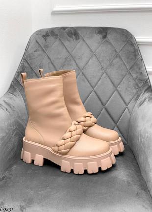 Натуральная кожа ботиночки демисезонные