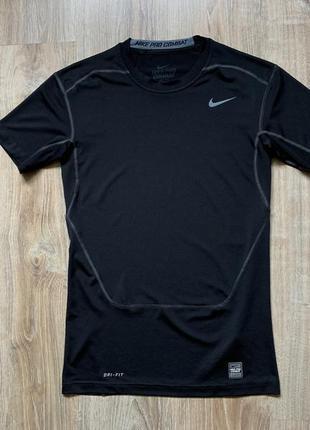 Мужская компрессионная футболка компресионка nike pro combat