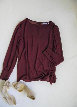 Красивая бордовая блузка от new look, размер l