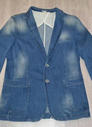 Приталенный джинсовый пиджак sorbino италия