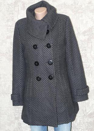 Удлиненное шерстяное полупальто, куртка  mbj 44-46