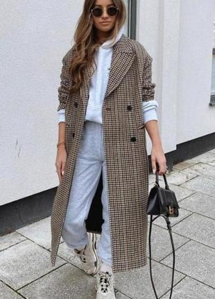 Модное шерстяное пальто zara качеств👌