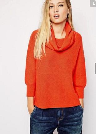 Большой выбор одежды до 100грн/  шерсть яркий оранжевый свитер