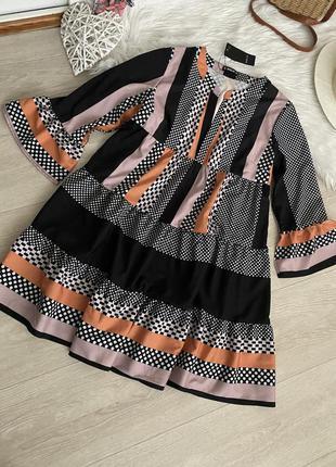 Свободное ярусное платье sheila