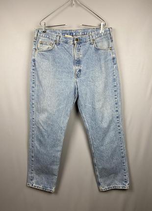Carhartt stone washed джинсы винтаж винтажные vintage xxl 2xl синие