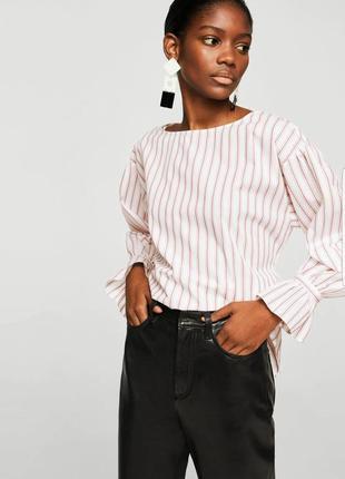 Полосатая блузка mango с поясом