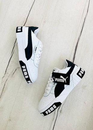 Кроссовки puma cali white/black