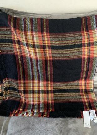 Теплый большой шарф плед stradivarius оригинал