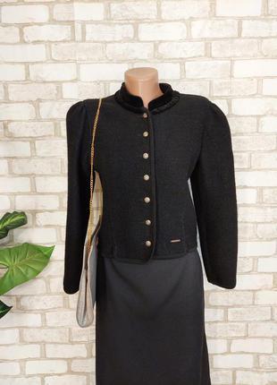 Фирменный geiger мега теплый пиджак/жакет со 100% шерсти в черном цвете, размер с-м