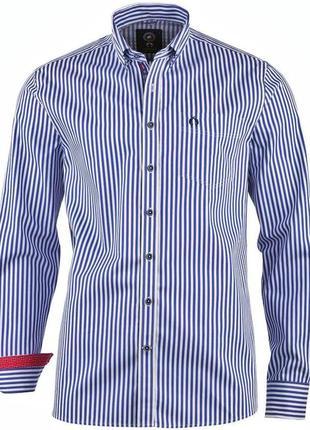 Стильная хлопковая рубашка в полоску, claudio campione, l