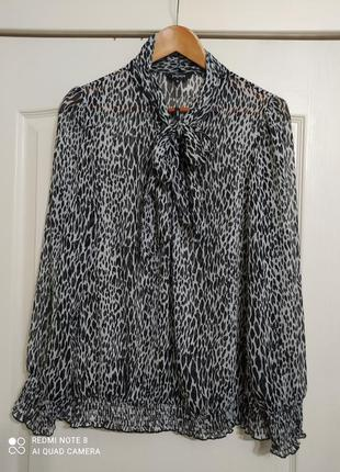 Блуза принт леопард большого размера, 18