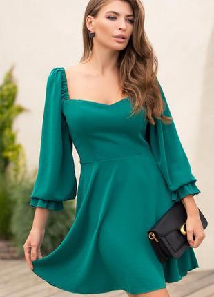 Красивое платье 👗 в изумрудном цвете тренд новинка качество 🔥