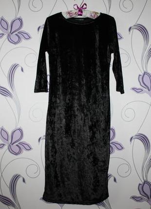 Шикарное бархатное велюровое платье atmosphere разм m/l