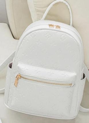 Модный белый рюкзак в стиле луи виттон louis vuitton