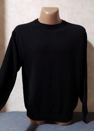 Чёрный шерстяной свитер maselli, m-l