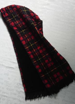 Интересный теплый шарф-капюшон на подкладке из велюра