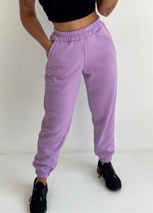 Спортивные штаны джоггеры на флисе