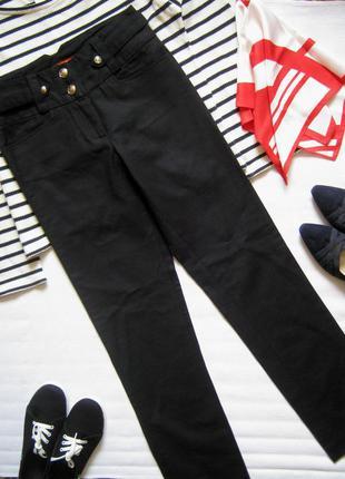 Плотные осенние хлопковые брюки на высокий рост
