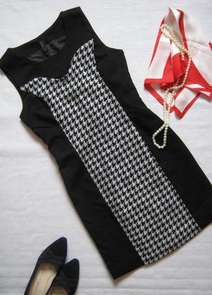 Платье футляр в клетку гусиная лапка