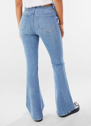 Клеш джинсы высокая посадка кльош джинси палаццо джинсы трендовые джинсы 2021