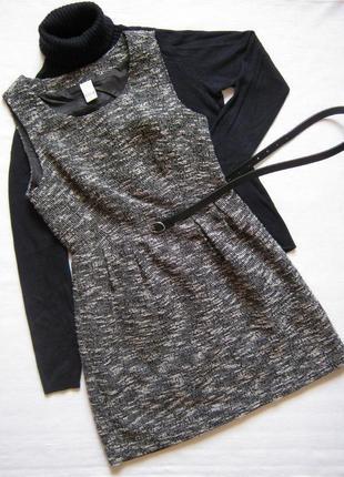 Твидовое платье, сарафан с люрексом