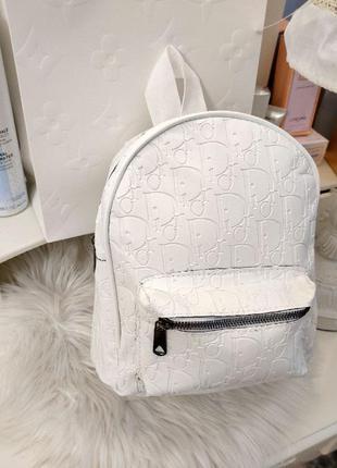 Класний білий рюкзачок