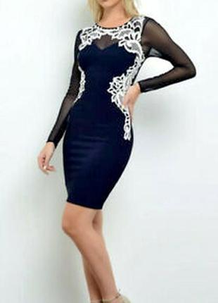 Шикарное нарядное платье lipsy london. новое р-р s/xs