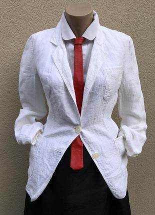 Белый,лён жакет,пиджак,блейзер,кэжуал,премиум бренд,michael kors