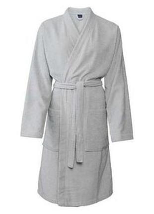 Серый мужской махровый халат miomsre