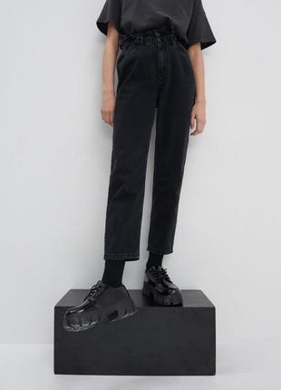 Стильні джинси paperbag, mom джинси, штани джинсові