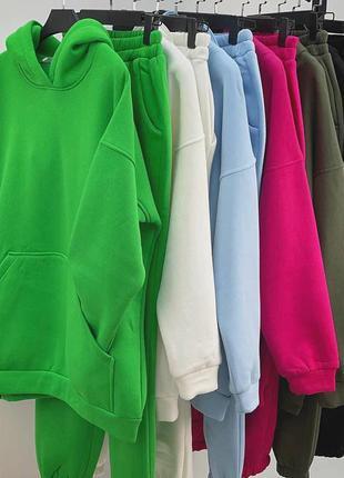 Костюм спортивный на флисе, костюм тёплый 6 цветов