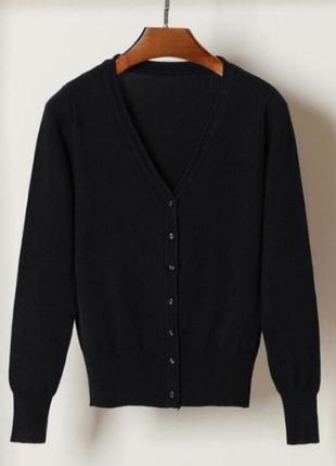 Базовый черный кардиган пуловер кофта