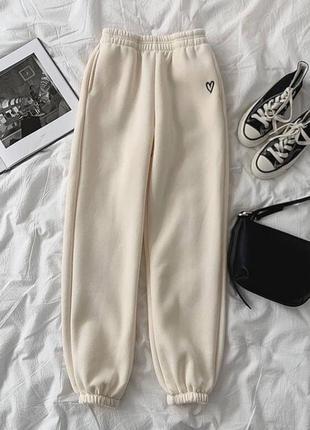 Тёплые джоггеры, утеплённые штаны на флисе, 3 цвета