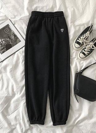 Утеплённые штаны на флисе, тёплые спортивные штаны, 3 цвета