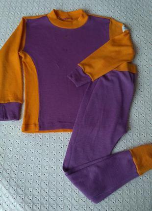 Комплект термобілизни з мериносової шерсті термо реглан штани леггинсы термобелье шерсть мериноса