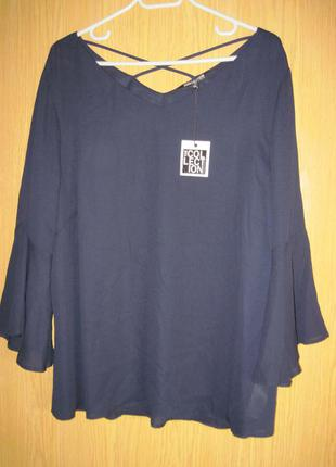"""Новая синяя блузка """"debenhams"""" р. 54"""
