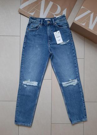 Женские джинсы zara mom fit💕💕 женские джинсы бойфренды