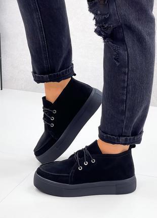 Туфли криперы замшевые