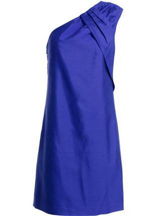 Платье reiss королевский синий цвет хлопок+шёлк